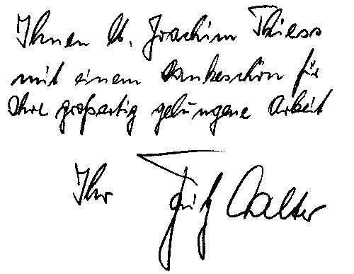 persönliche Widmung von Fritz Walter