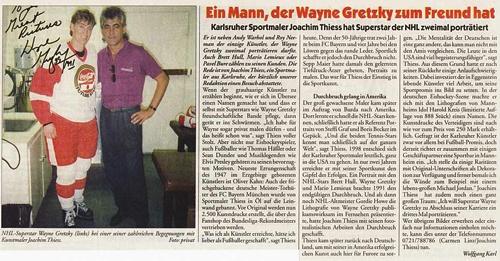 """Pressemitteilung: """"ein Mann der Wayne Gretzky zum Freund hat"""""""