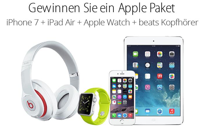 Gewinnen Sie ein Apple Paket!