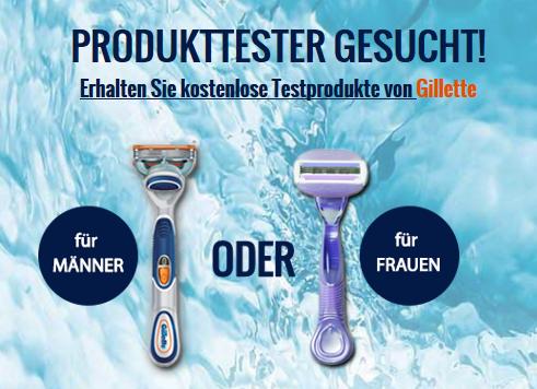 Gilette Produkttester werden!