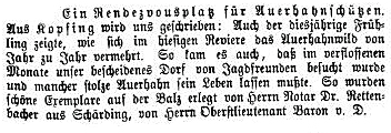 Tages=Post vom 13. 5. 1882