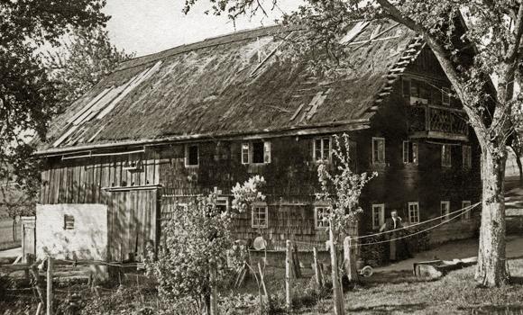 Das Häusl des Taubn-Hansl (Glatzing) während des 1. Weltkriegs