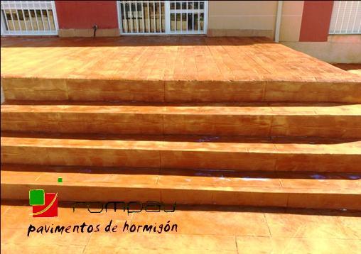 beton imprime en escaliers Grenoble