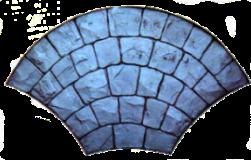 moules pavé parisien évantail France