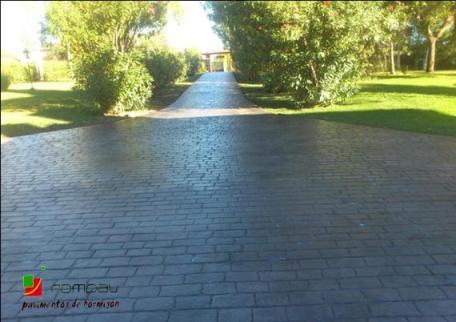 pave rustique beton imprime Limoges