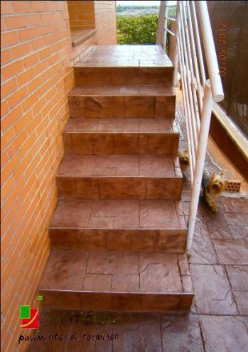 escaliers en beton imprime Chambery