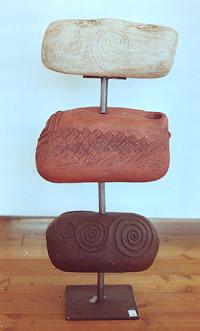 Das Raunen der Steine , 2003,  150 cm H