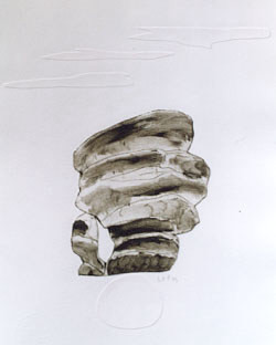 Das Raunen der Steine I, 1999, 20x26