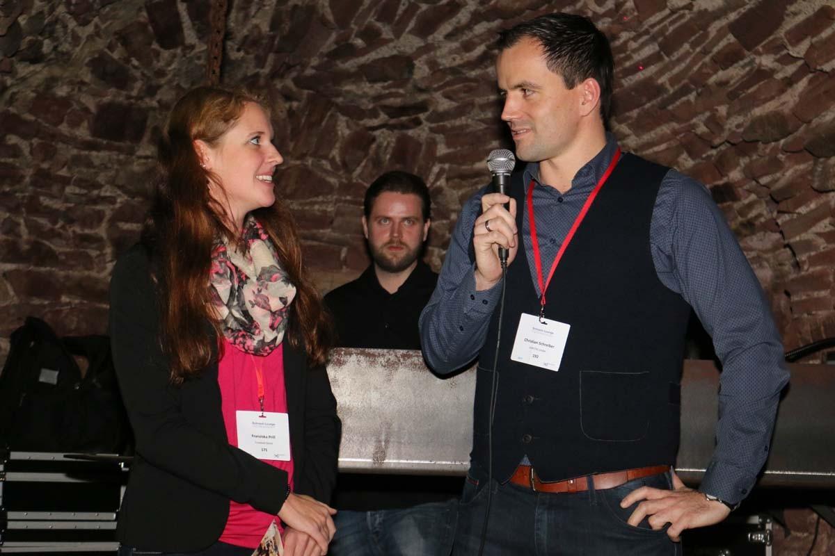 """Unser Interviewgast Christian Schreiber, internationaler Vertrieb bei der SONOTEC GmbH in Halle, zeigte: """"Hier bleiben und Karriere machen geht!"""""""