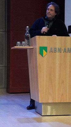 In gesprek met de zaal op hoofdkantoor ABN AMRO in 2016