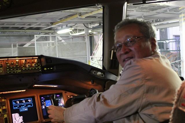 副操縦席で最終点検