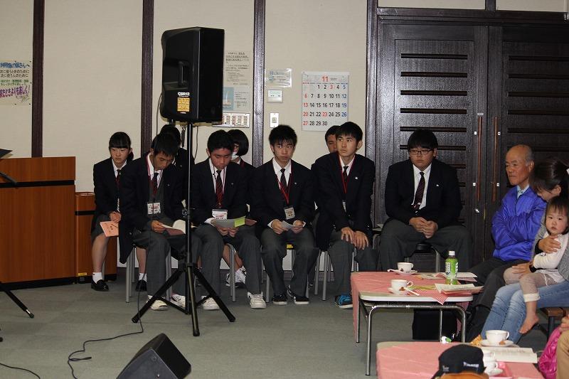 ボランティアの松平高校生の皆さん フォークソングはどうでしたか