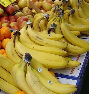 Bananen auf einem Wochenmarkt