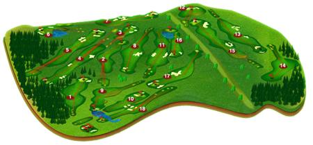 zum Golfplatz