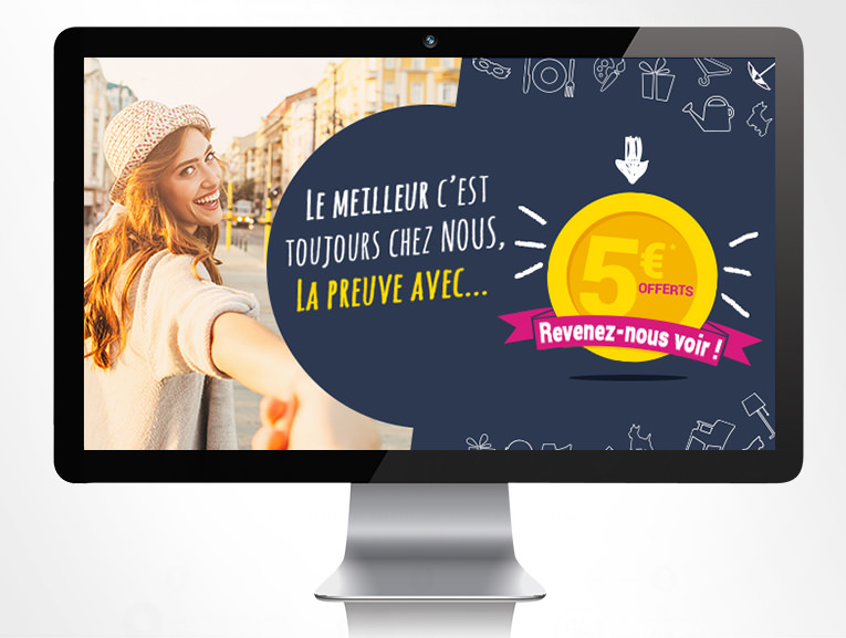 LSZ Communication - Graphiste - Directrice artistique freelance Nantes - #lepetitoiseaudelacom - FOIR'FOUILLE - Emailing - Agence Caribou