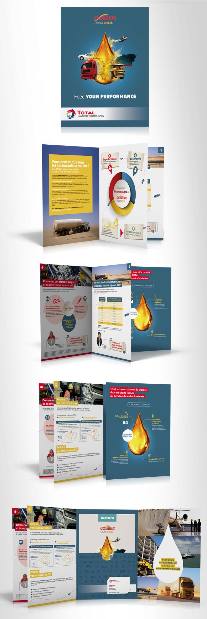 LSZ Communication - Graphiste freelance Nantes #Lepetitoiseaudelacom - TOTAL AMO Excellium - plaquette - Agence Caribou
