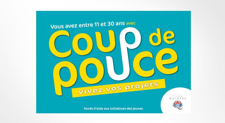 Graphiste freelance Nantes-LSZ Communication - Ville de Quimper - Coup de pouce - Aide aux projets jeunes - flyer