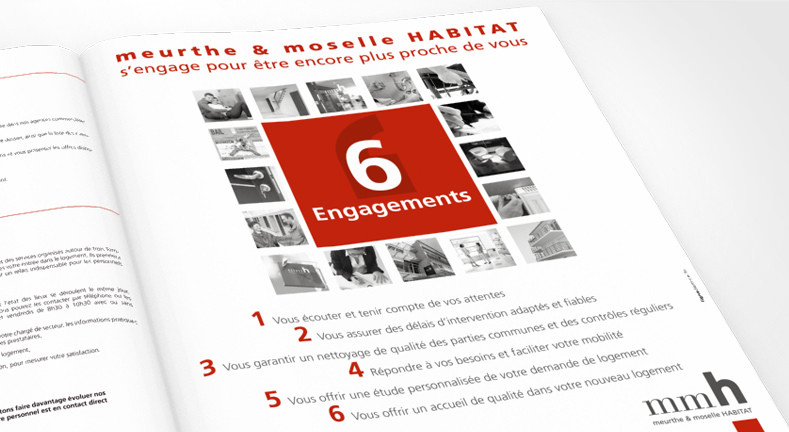 LSZ Communication - Graphiste - Directrice artistique freelance Nantes - #lepetitoiseaudelacom - Meurthe & Moselle Habitat - MMH - Immobilier - 6 engagements - Annonce-presse
