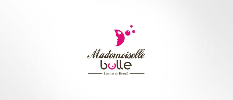 LSZ Communication - Graphiste - Directrice artistique freelance Nantes - #lepetitoiseaudelacom - MADEMOISELLE BULLE - ESTHETICIENNE - Institut de beauté - SAINT AIGNAN DE GRAND LIEU - logo