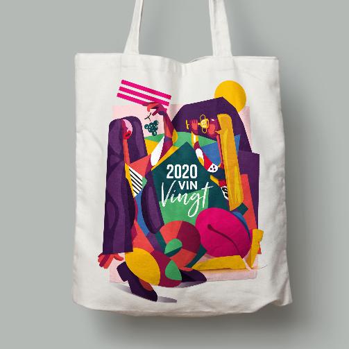 LSZ Communication - Graphiste - Directrice artistique freelance Nantes - #lepetitoiseaudelacom-Illustration-Packaging-sac-tote bag-Bonne année 2020