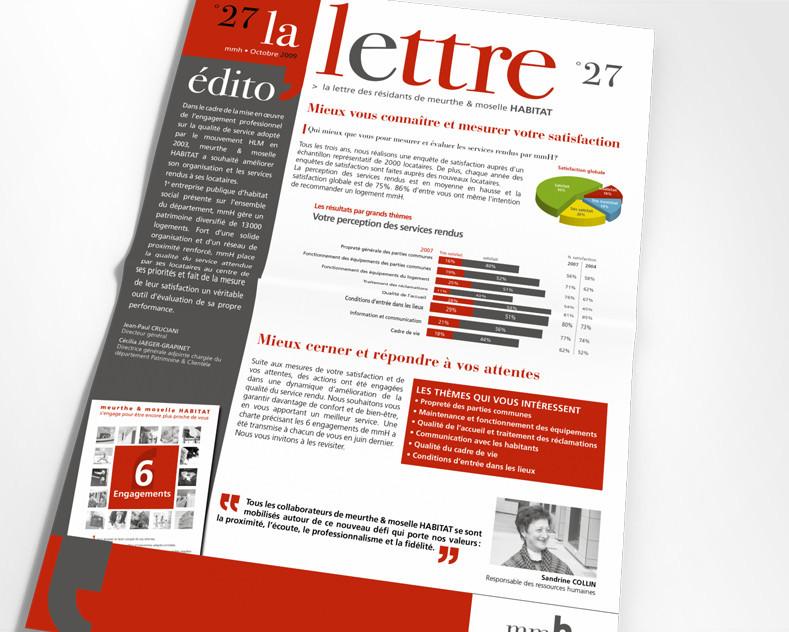 LSZ Communication - Graphiste - Directrice artistique freelance Nantes - #lepetitoiseaudelacom - Meurthe & Moselle Habitat - MMH - Immobilier - 6 engagements - Lettre journal d'entreprise