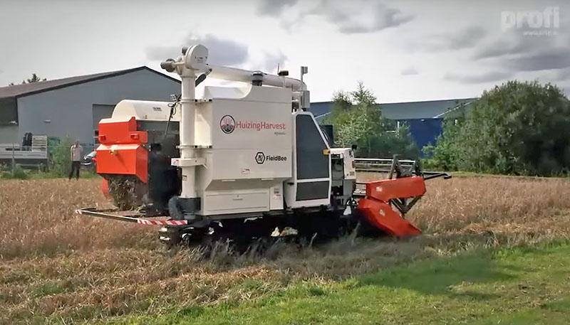 Рисоуборочный робот-комбайн HuizingHarvest. Проба пера.