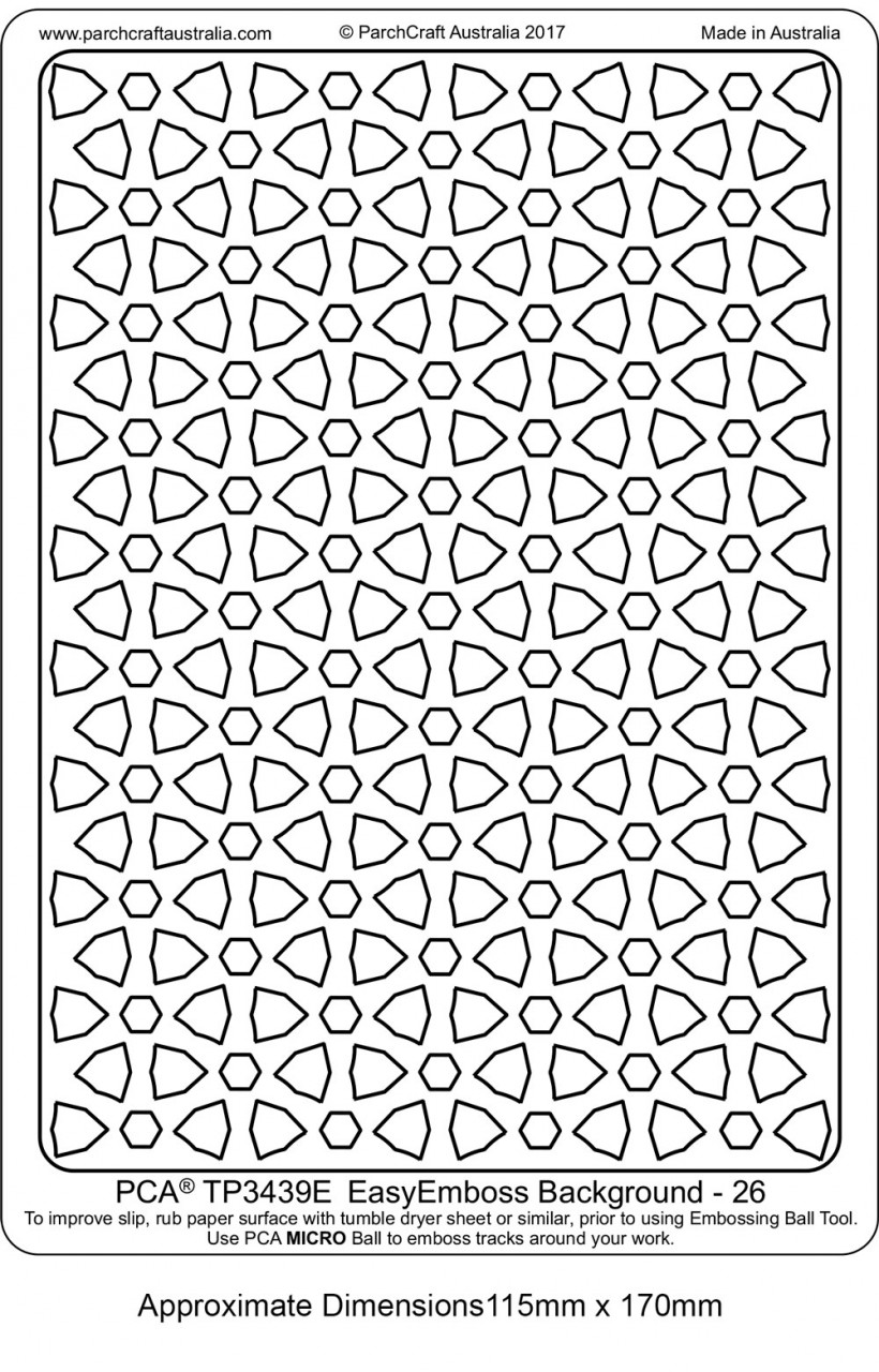 PCA Easy Embossing Templates - Backgrounds - Craft Supplies