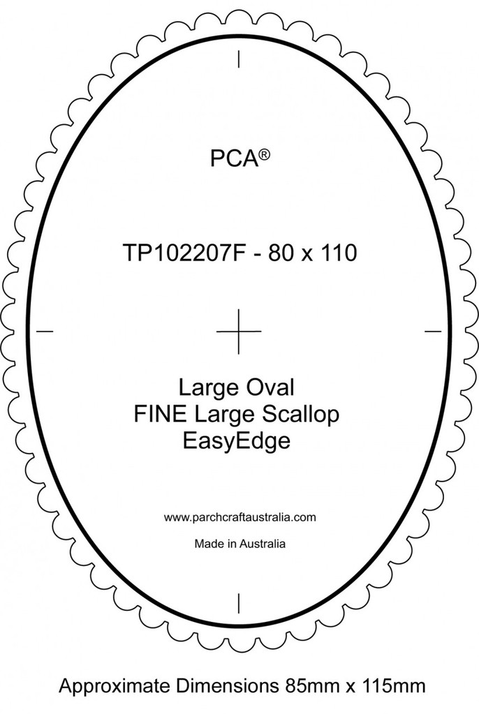 TP102207F PCA Template Guide For A Scallop Edge Large Oval Fine