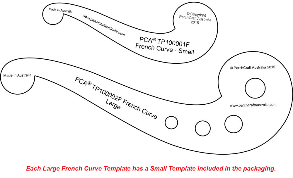 Pca Template French Curve Large Plain Edge And Small