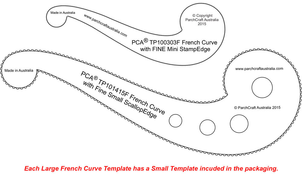 image relating to Printable French Curve identify PCA Templates - French Curves - Craft Resources