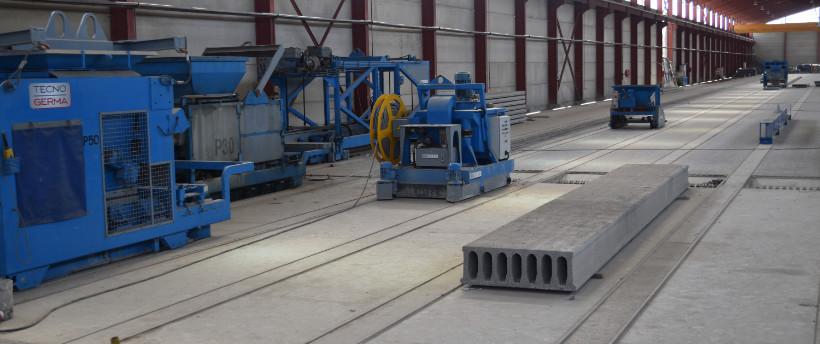 Fabricación pretensados de hormigón - Tecnogerma