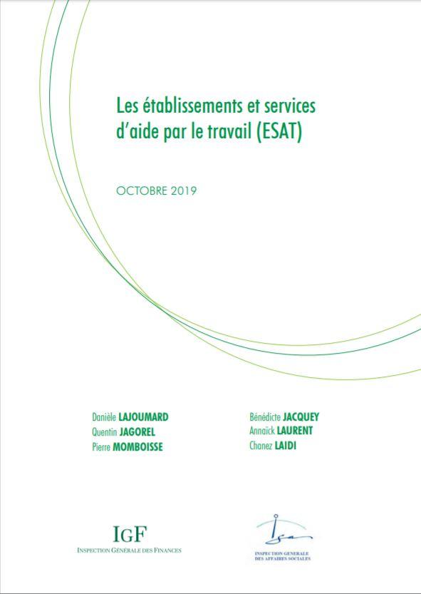 Les  établissements et services d'aide par le travail (ESAT)