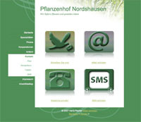 Kontaktseite, Handarbeit: Pflanzenhof Nordshausen