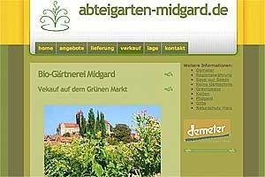 Entwurf für einen Demeter Gartenbaubetrieb