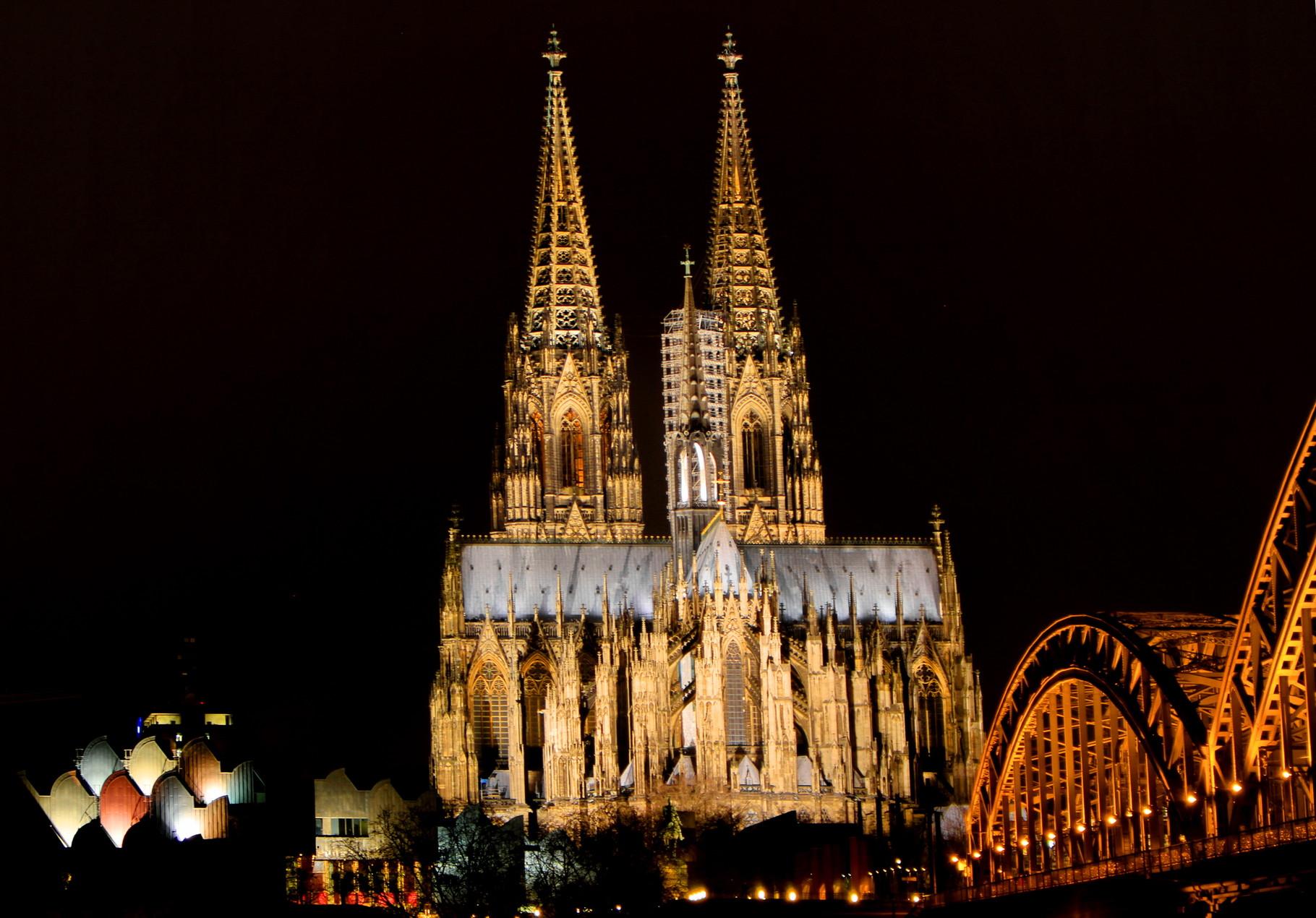Kölner Triptichon - Philharmonie, Dom und Hohenzollernbrücke