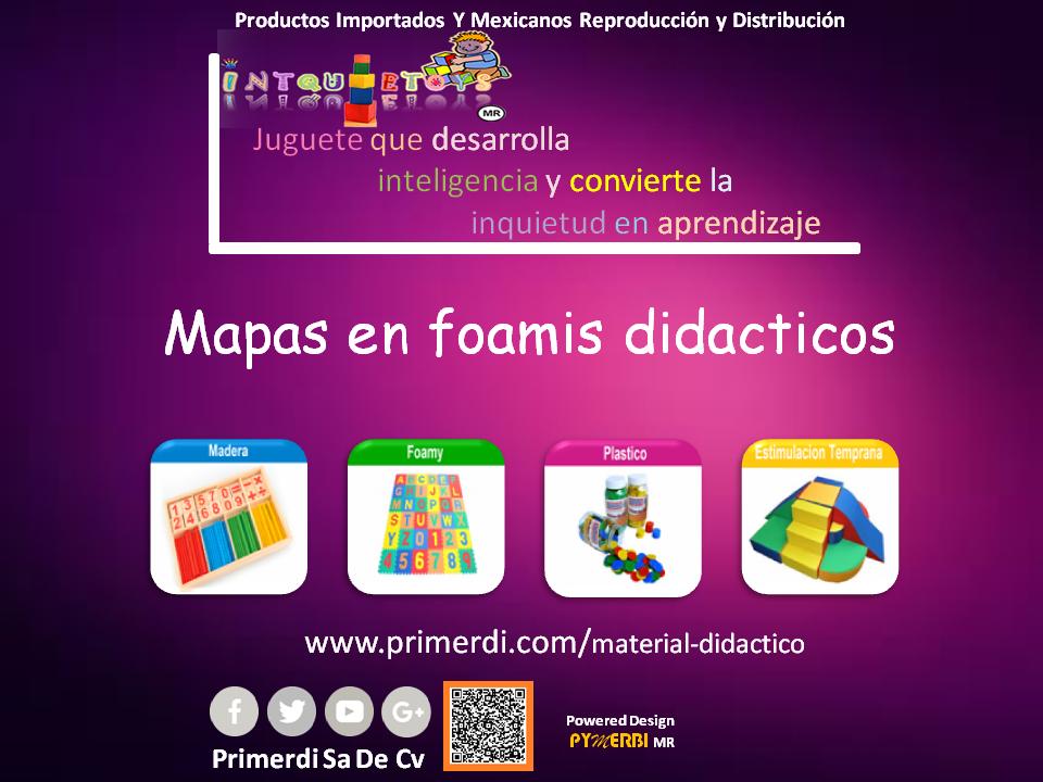 mapas en foamis o foamy didacticos