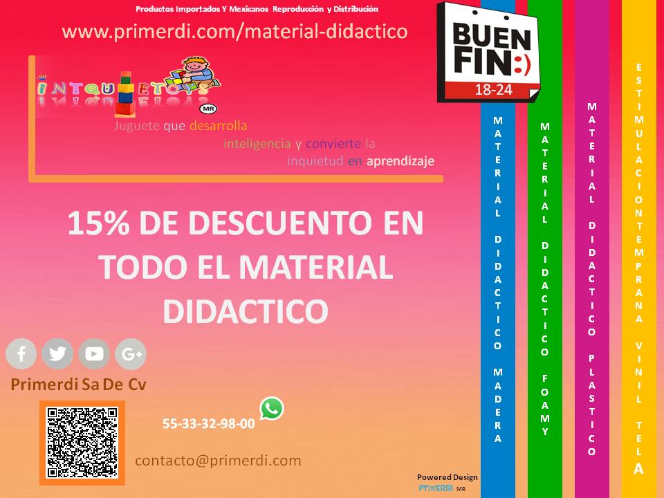 buen fin promocion en material didactico de foamy madera plastico