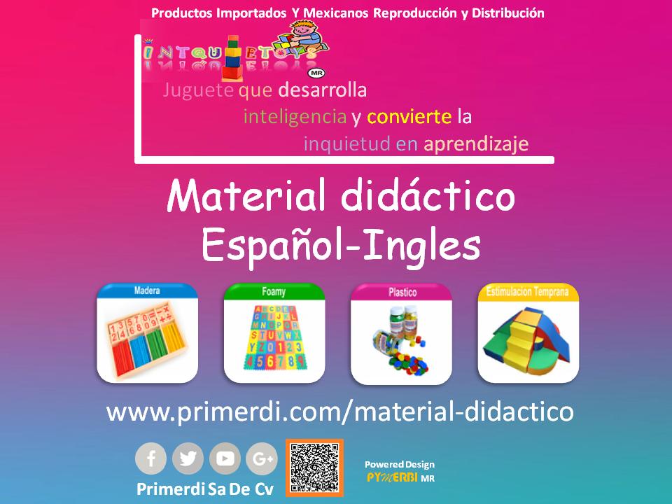 material didactico en español ingles