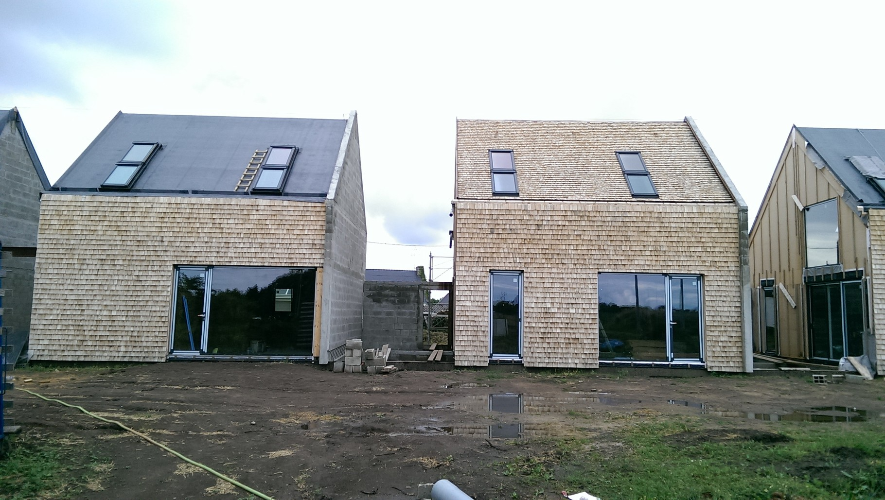 """Habitations en bande, MOB : expertise """" tructure bois """", en cours de construction"""
