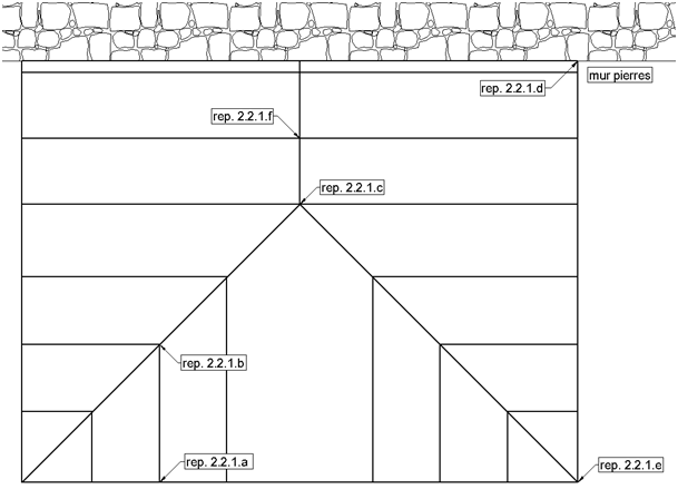 Véranda : vue en plan de la verrière du toit
