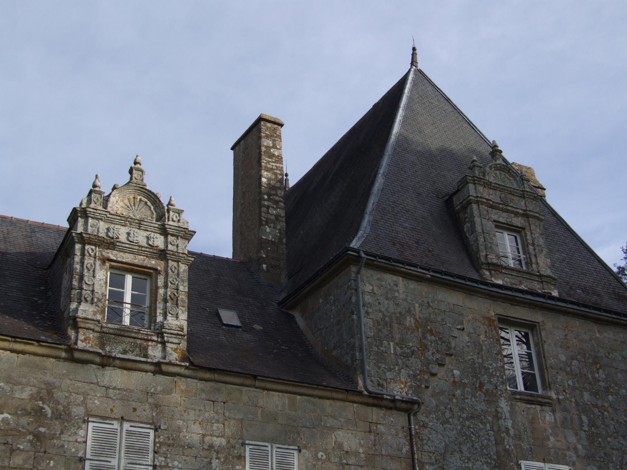 Château de Kéran (Arradon) : expertise capricornes des maison (charpente)