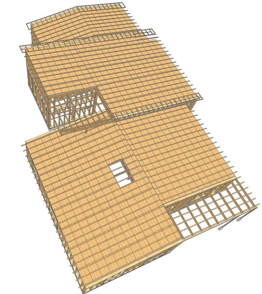 dessin 3D structure complète