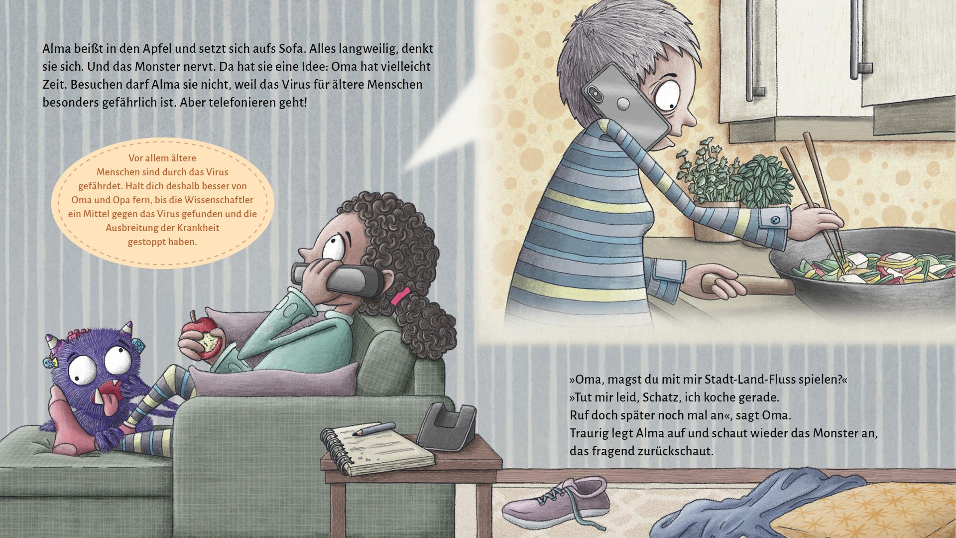 """Seite 13 - 14 """"Ich ruf Oma an."""""""