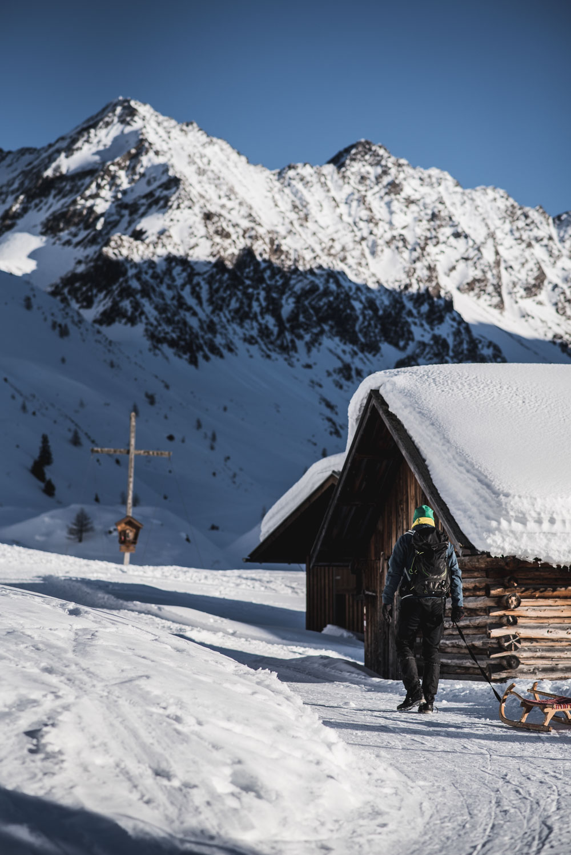 Rodeln in Tirol: Ötztal, Niederthai - Horlachtal, Larstigalm (Rodeln mit Kindern) + Schweinfurterhütte