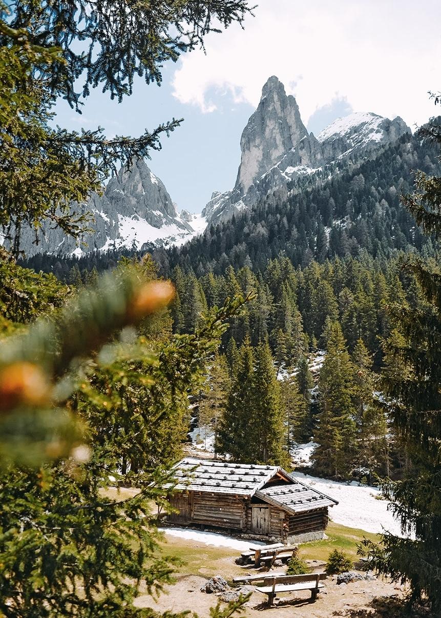 Wanderung ins Tschamintal, Rosengarten, Südtirol