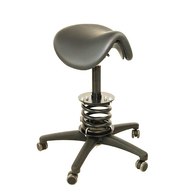 Feder-Sattel-Stuhl z.B. für den Zahnarzt oder Therapeuten