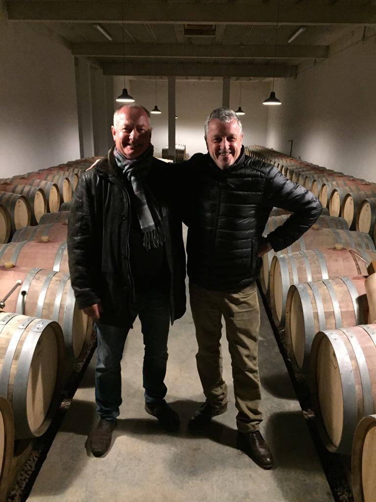 Fassprobe bei Philippe Chesnelong vom Weingut les Creisses