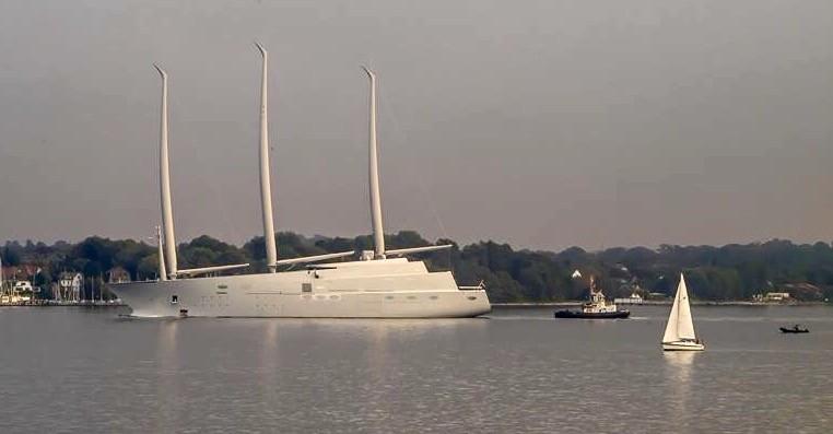 """Ausblick am 23.9.15: """"White Pearl"""" - die größte Segelyacht der Welt auf Probefahrt"""