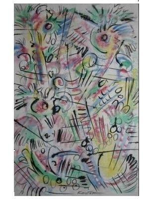 Asia - Insight - 2000, Tempera, Tusche, 83 x 55 cm