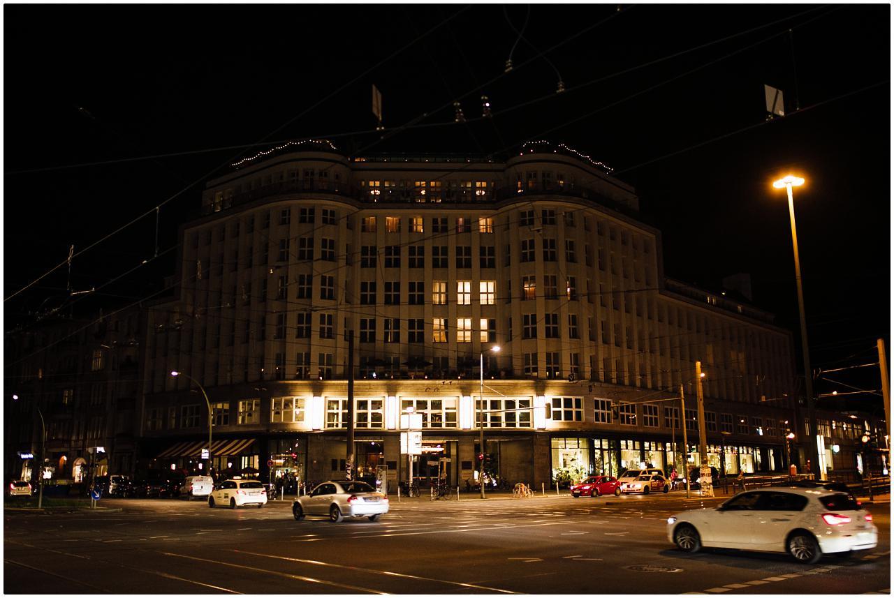 Das Soho House Berlin bei Nacht
